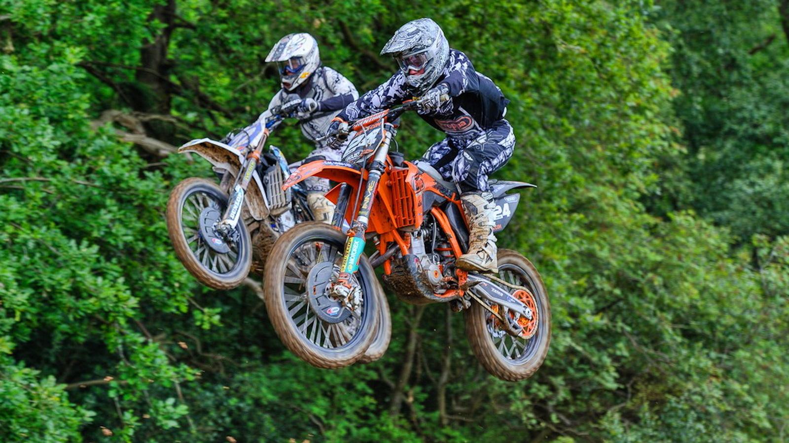 мотокросс, спорт, соревнования, гонщик, красота, мотоцикл, пара, полет