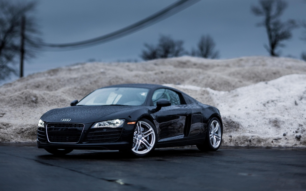 r8, ауди р8, дождь, roadster, rain, tilt shift, audi