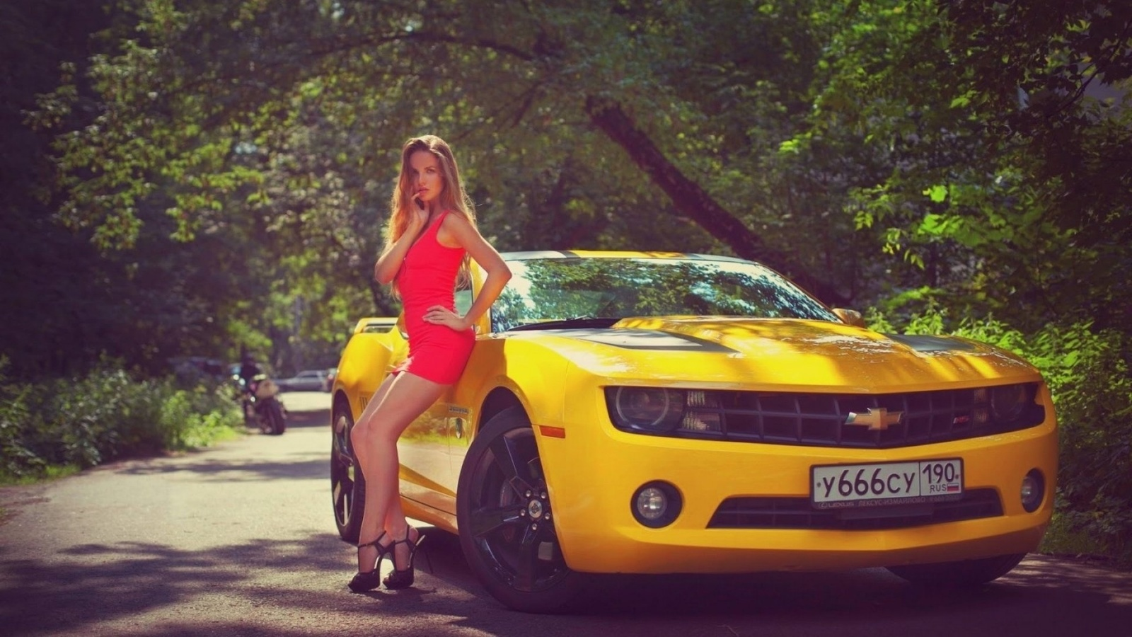 car, dress, girl, road