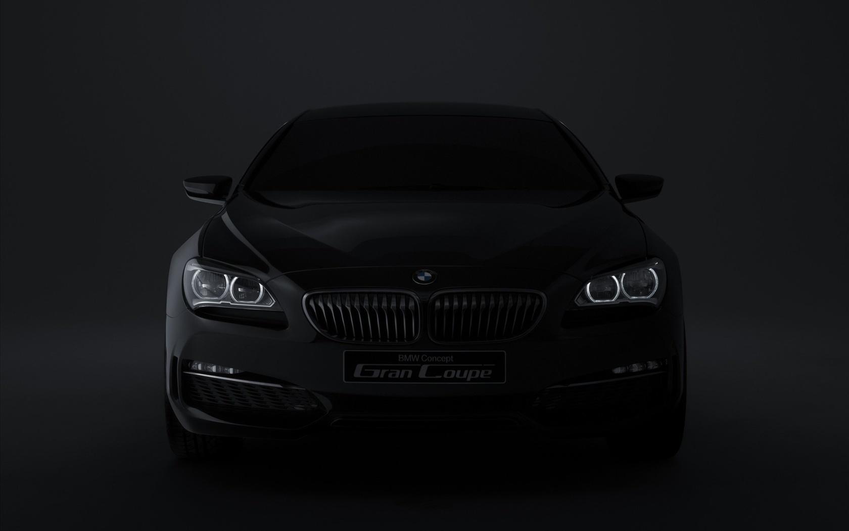bmw, concept, dark, logo, бмв, машина, темное авто, темнота, фары, фон, легковые авто, транспорт, автотранспорт