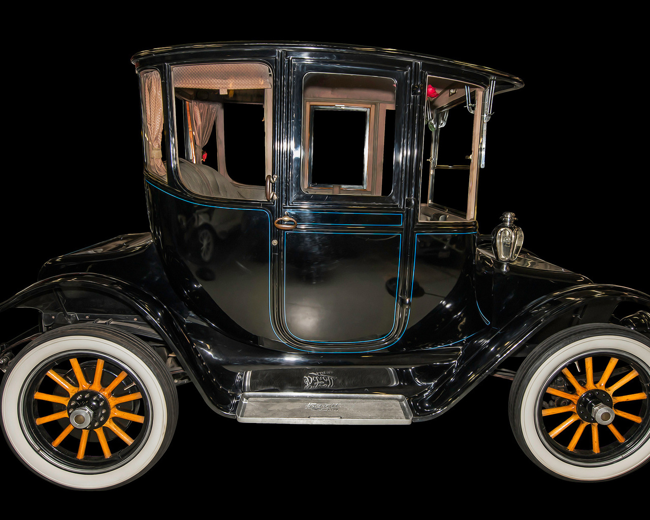 1917, detroit electric, автомобиль, ретро
