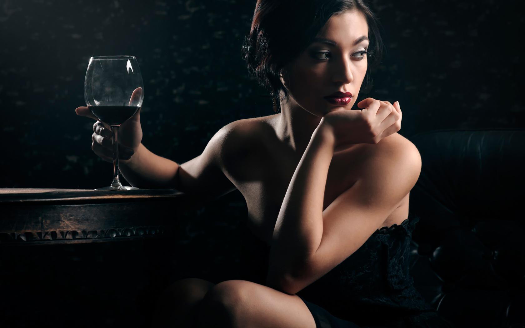 Картинки про вино и девушек