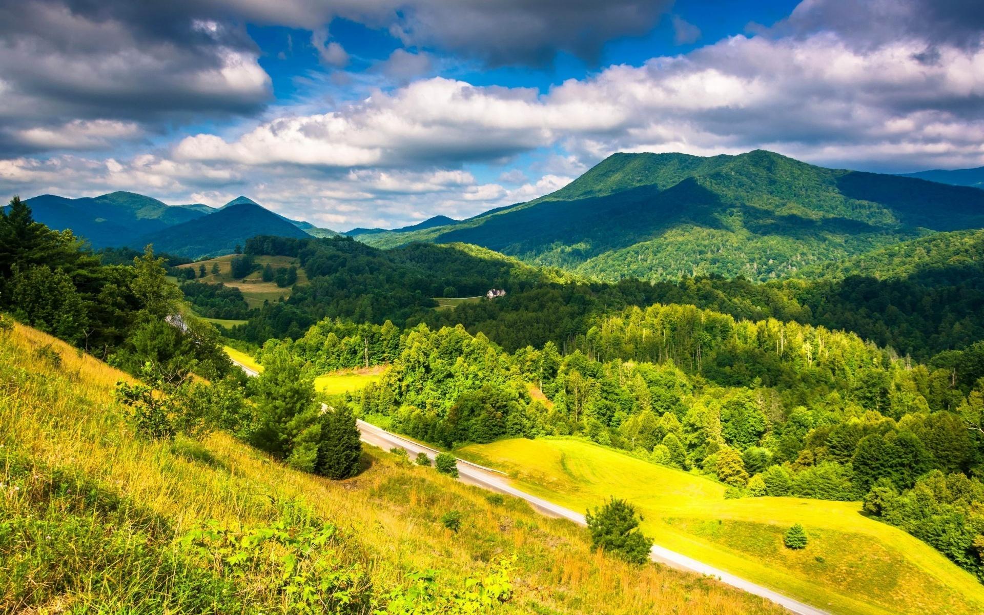 appalache, mountains, road, tree