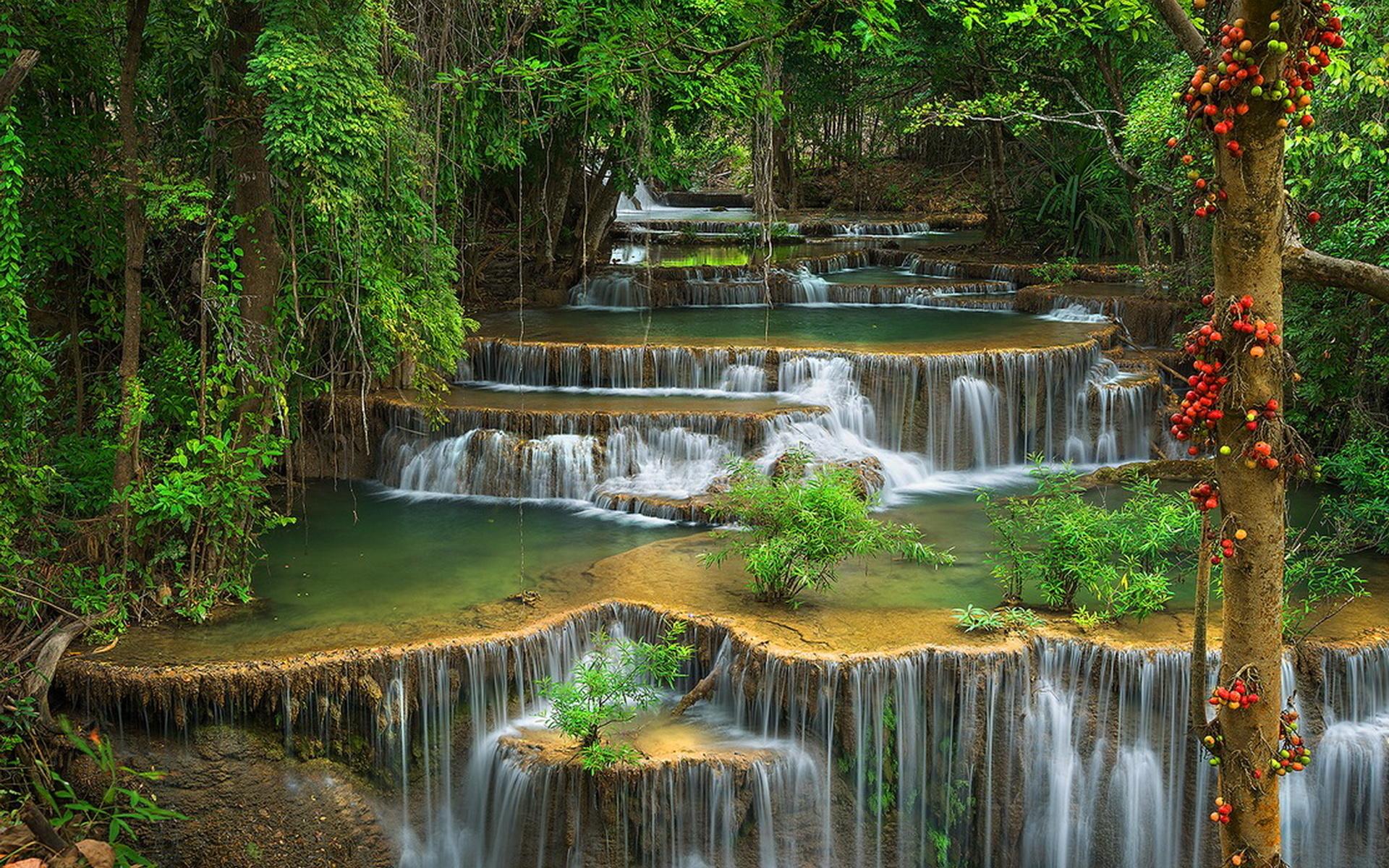 Открытки с водопадами каскадами, картинки днем ангела