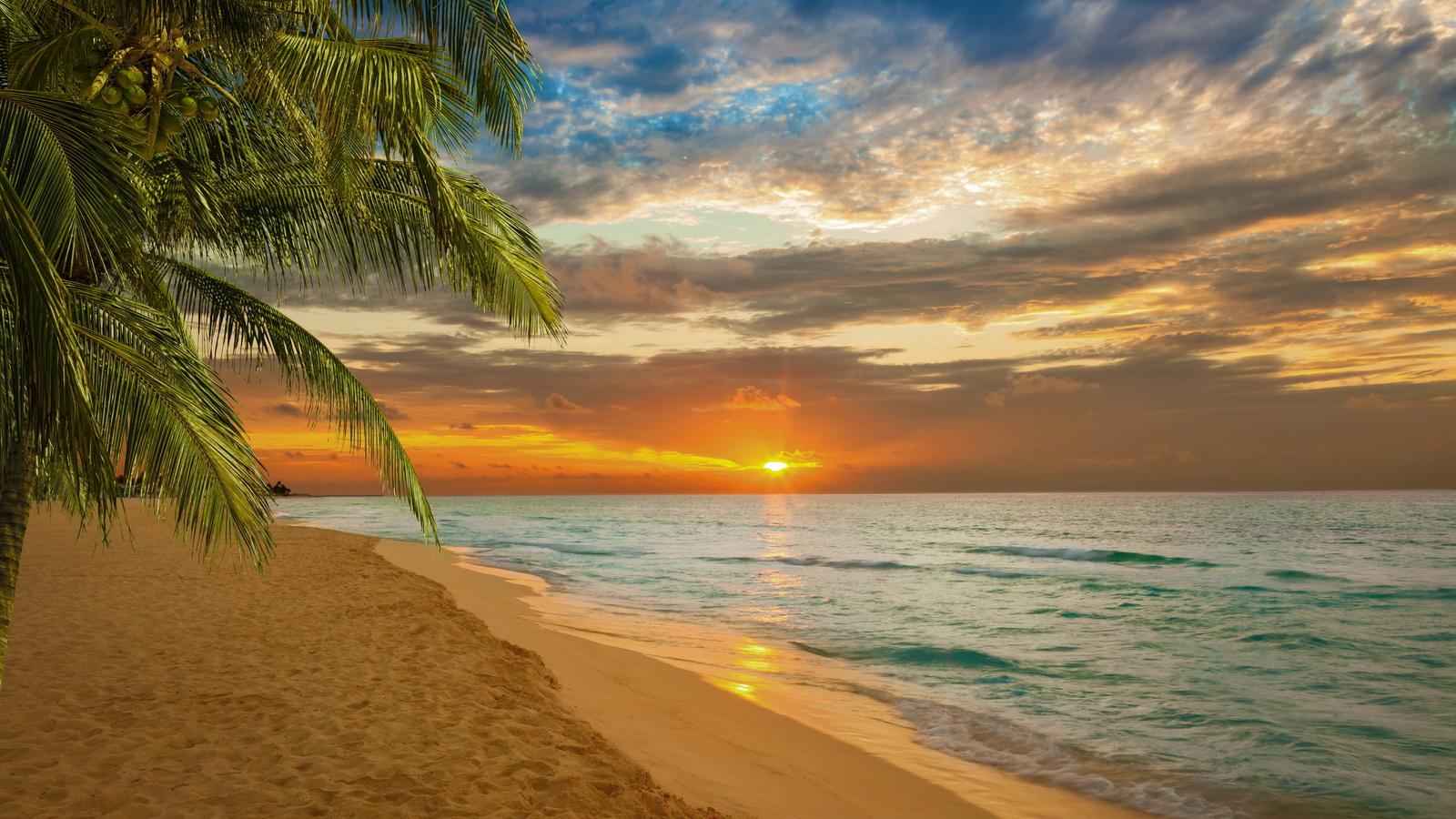 Открытка море закат