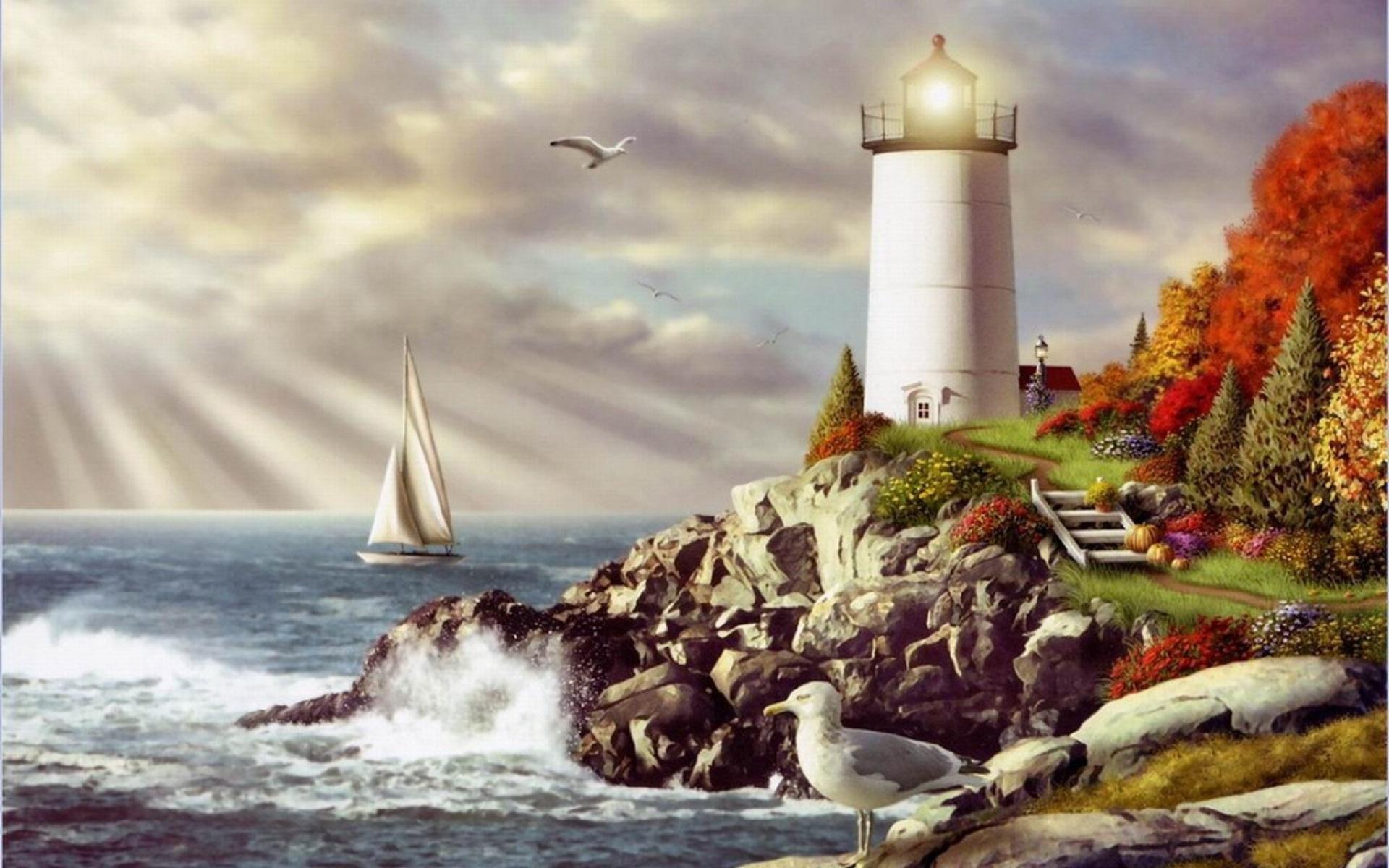 Урока, открытки с днем рождения маяк