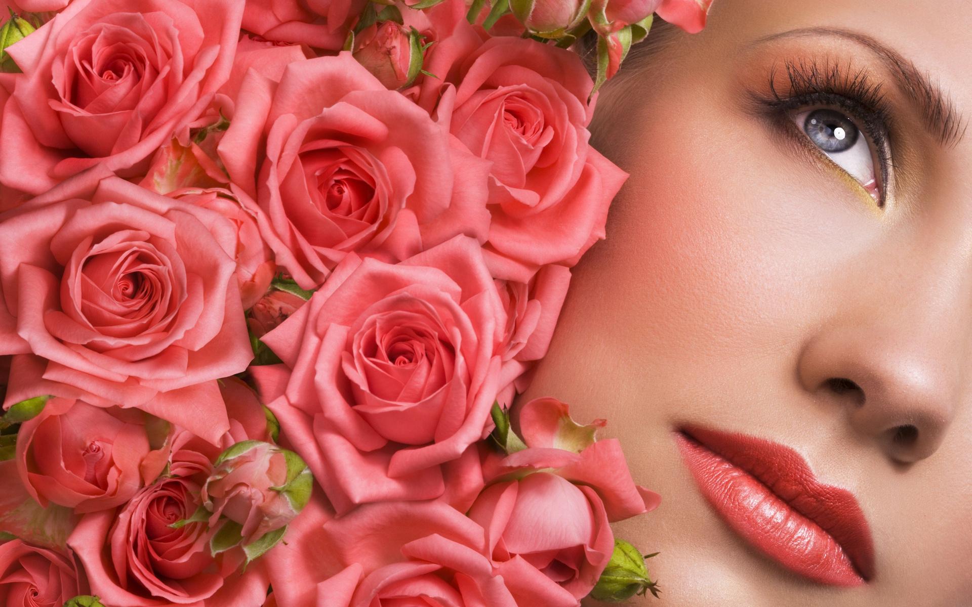 Прикол, открытка для девушки с розами