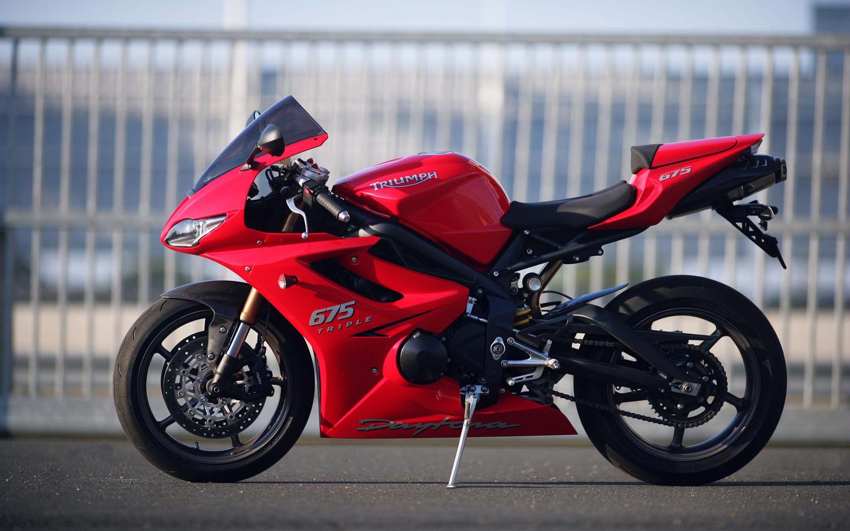 triumph, 675, daytona, мотоцикл, red