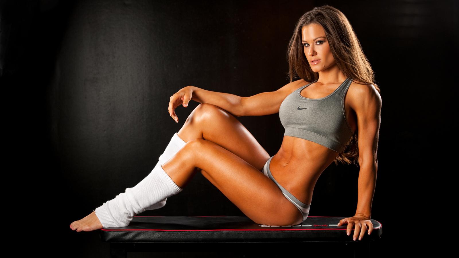 девушка, brooke adams, тело, грудь, ножки, спорт