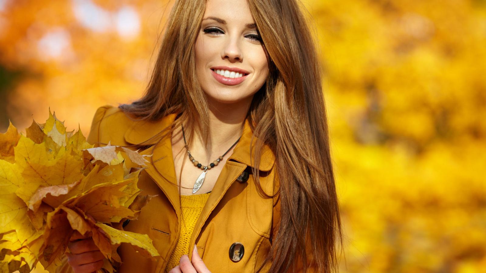 Женщина и осень картинки красивые
