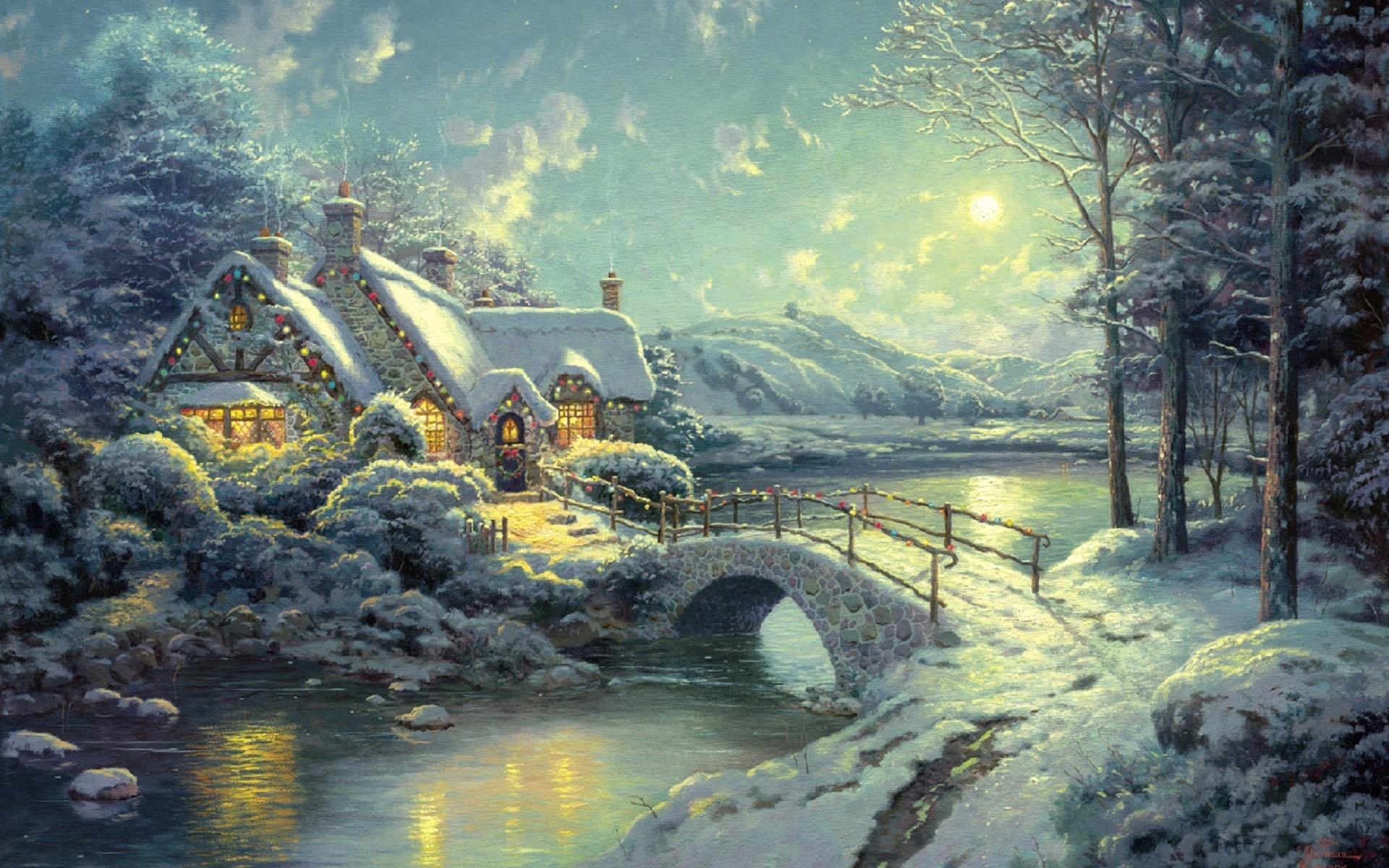 Удаче, рождественские открытки кинкейд