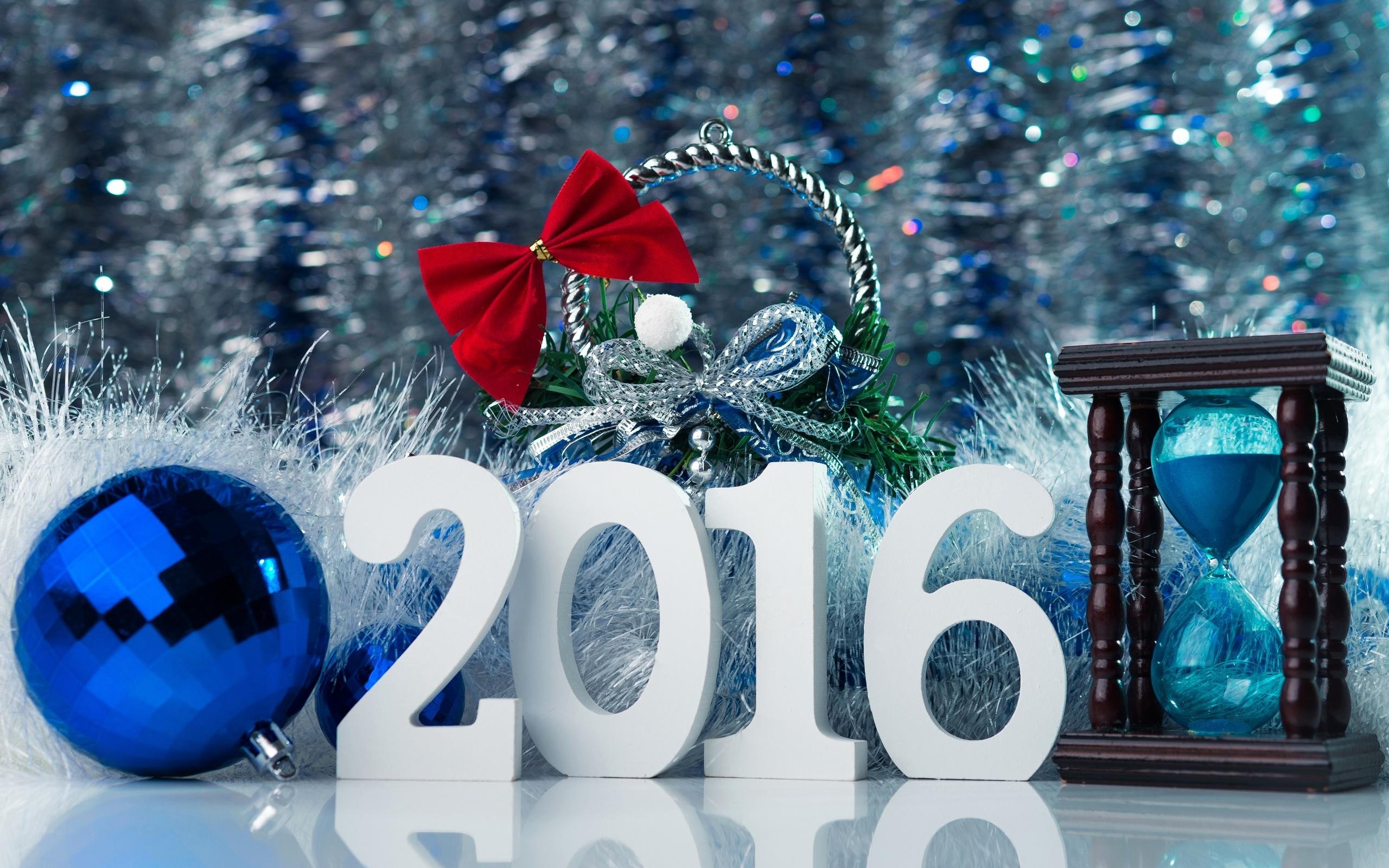 Надпись с новым 2016 годом картинки, открытка