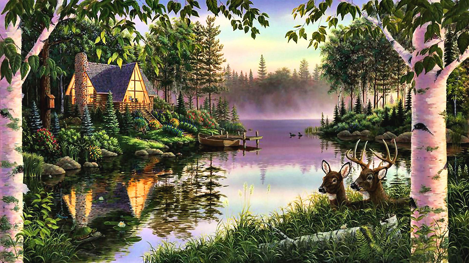 Природа нарисованные открытки, осень чай шарф