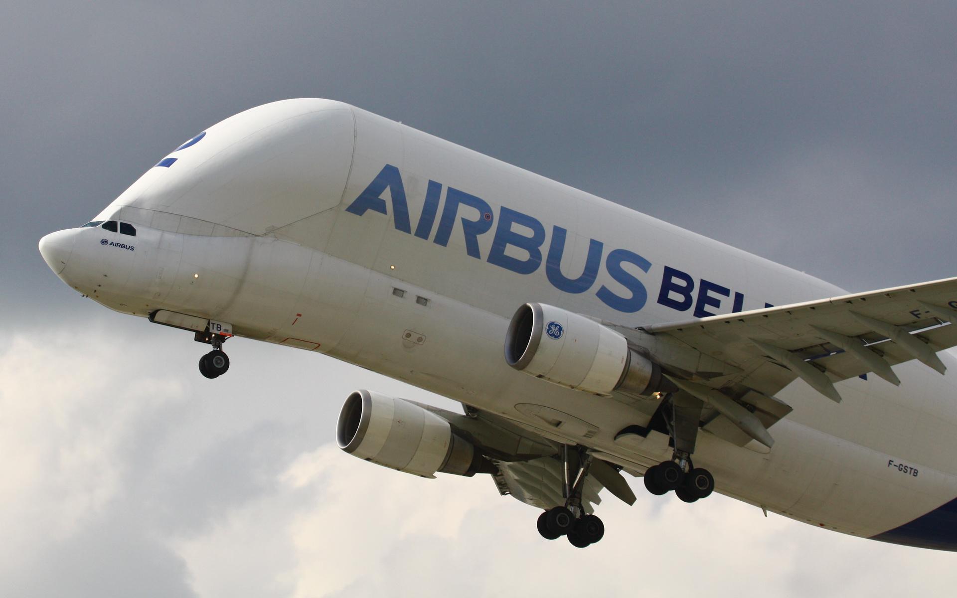 airbus a-300-605st beluga, airbus beluga, plane, аэробус, белуга, небо