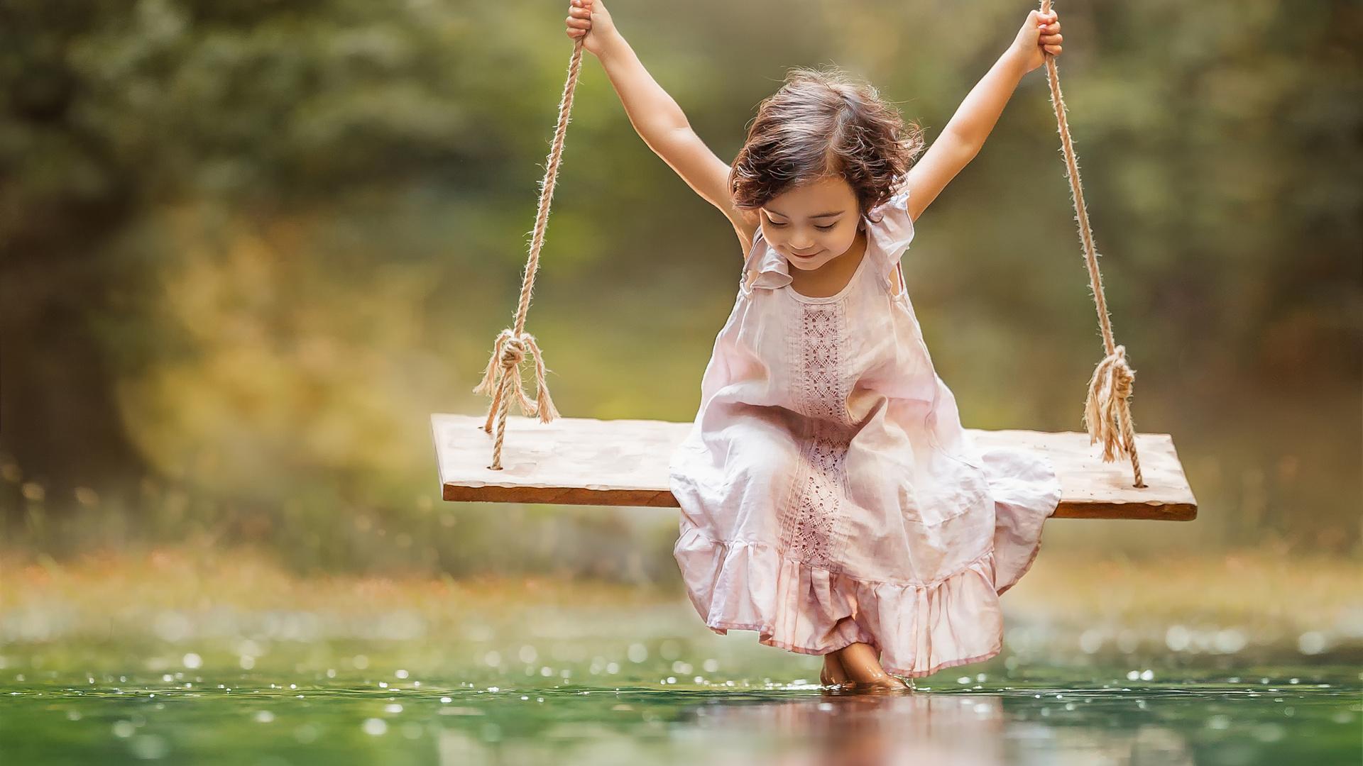 Обои качели, свобода, лето, радость. Настроения foto 19