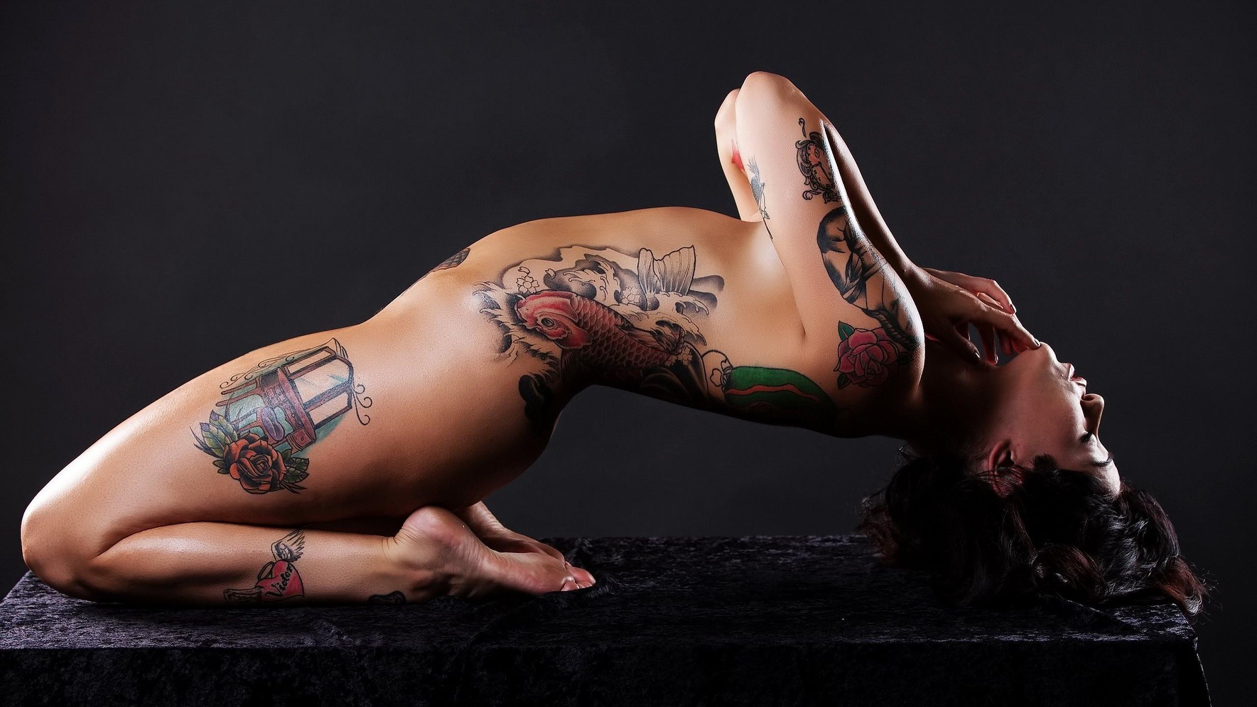 Most tattooed woman naked, beautiful naked brazillian girl ass