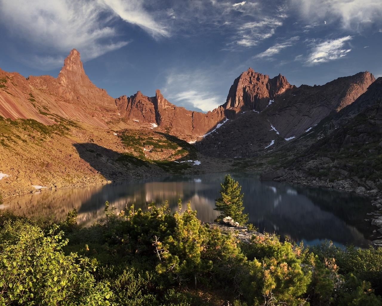 озеро горных духов, хребет ергаки, западные саяны, красноярский край, by дмитрий антипов