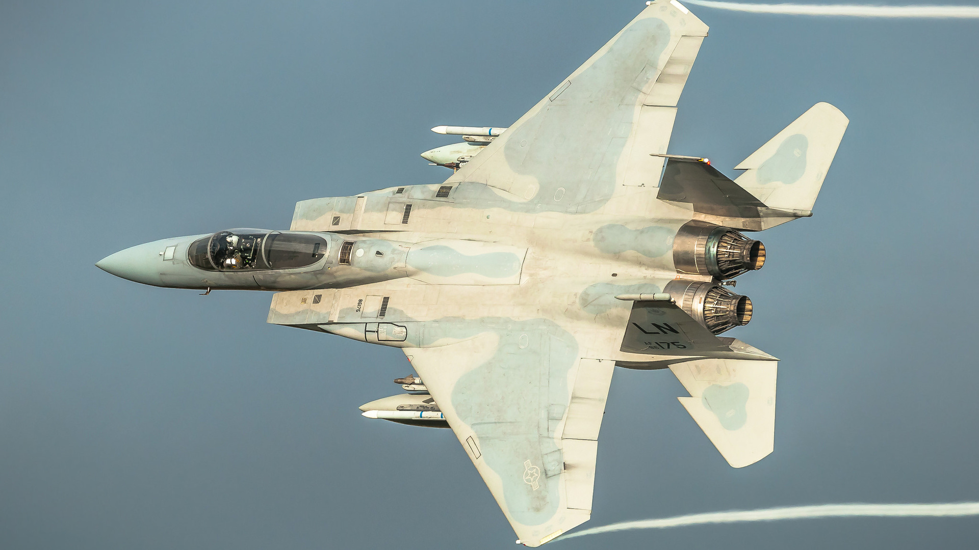 самолет, полет, истребитель, красиво, mcdonnell douglas f-15 eagle