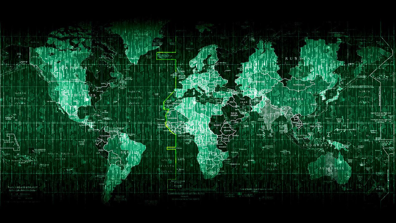 hi-tech, матрица, карта мира