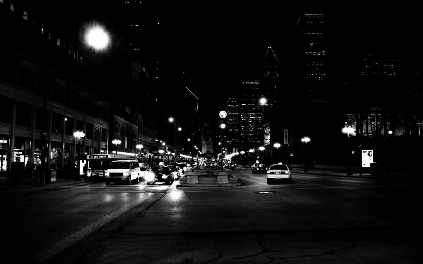 ночь, Чикаго, сша, чикаго, америка, небоскребы, здание