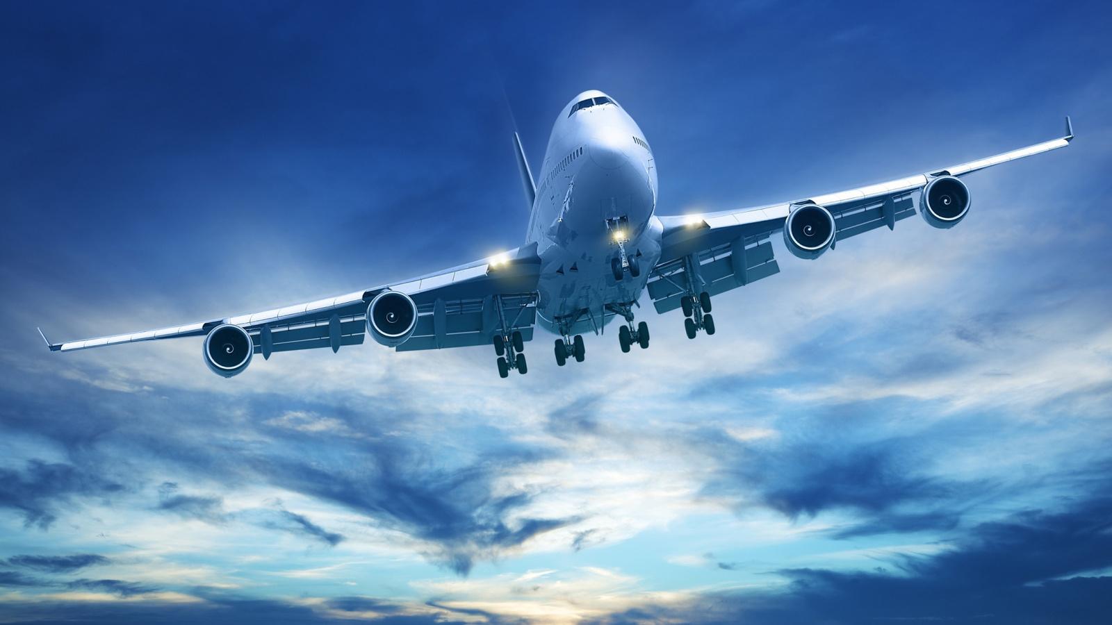 самолёт, полёт, небо