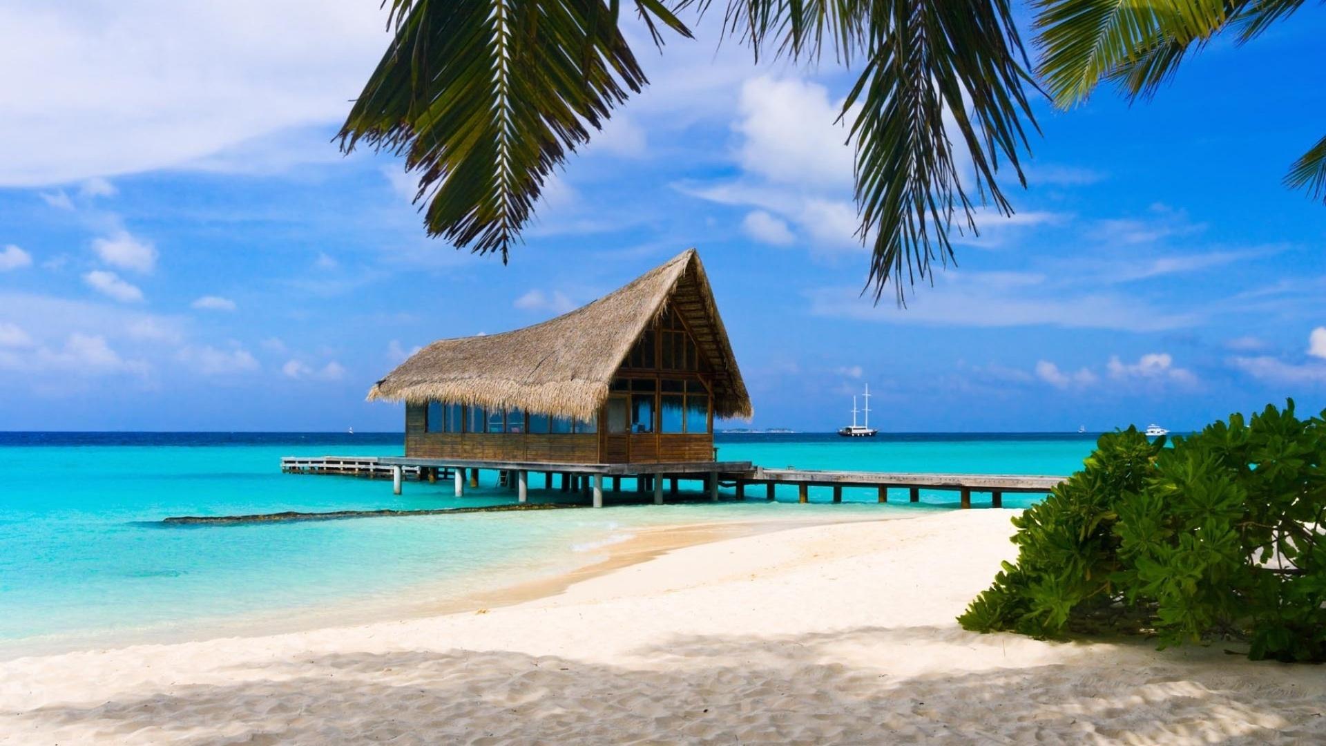 Открытка красивого пляжа