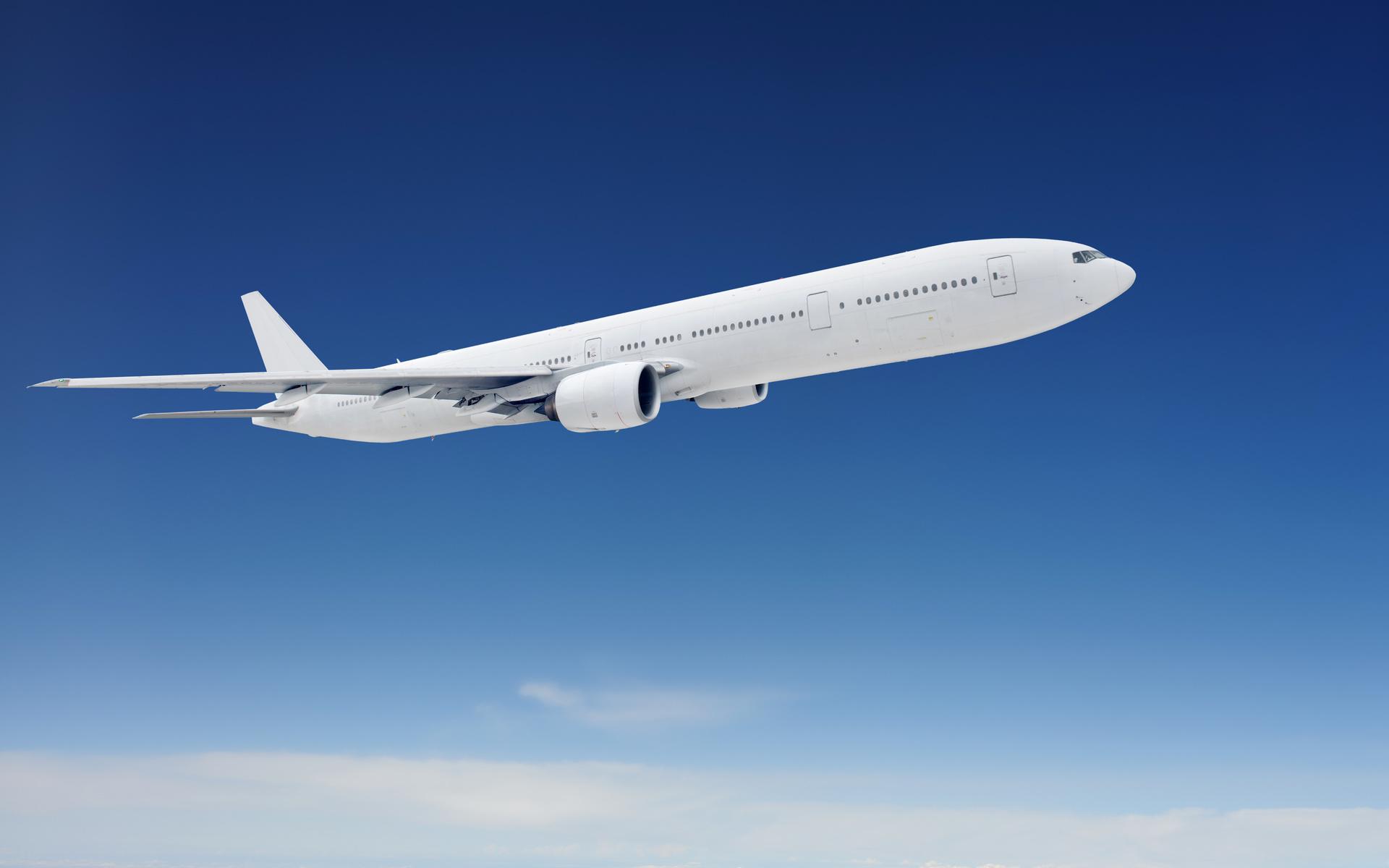 самолет, полет, скорость, красиво, небо
