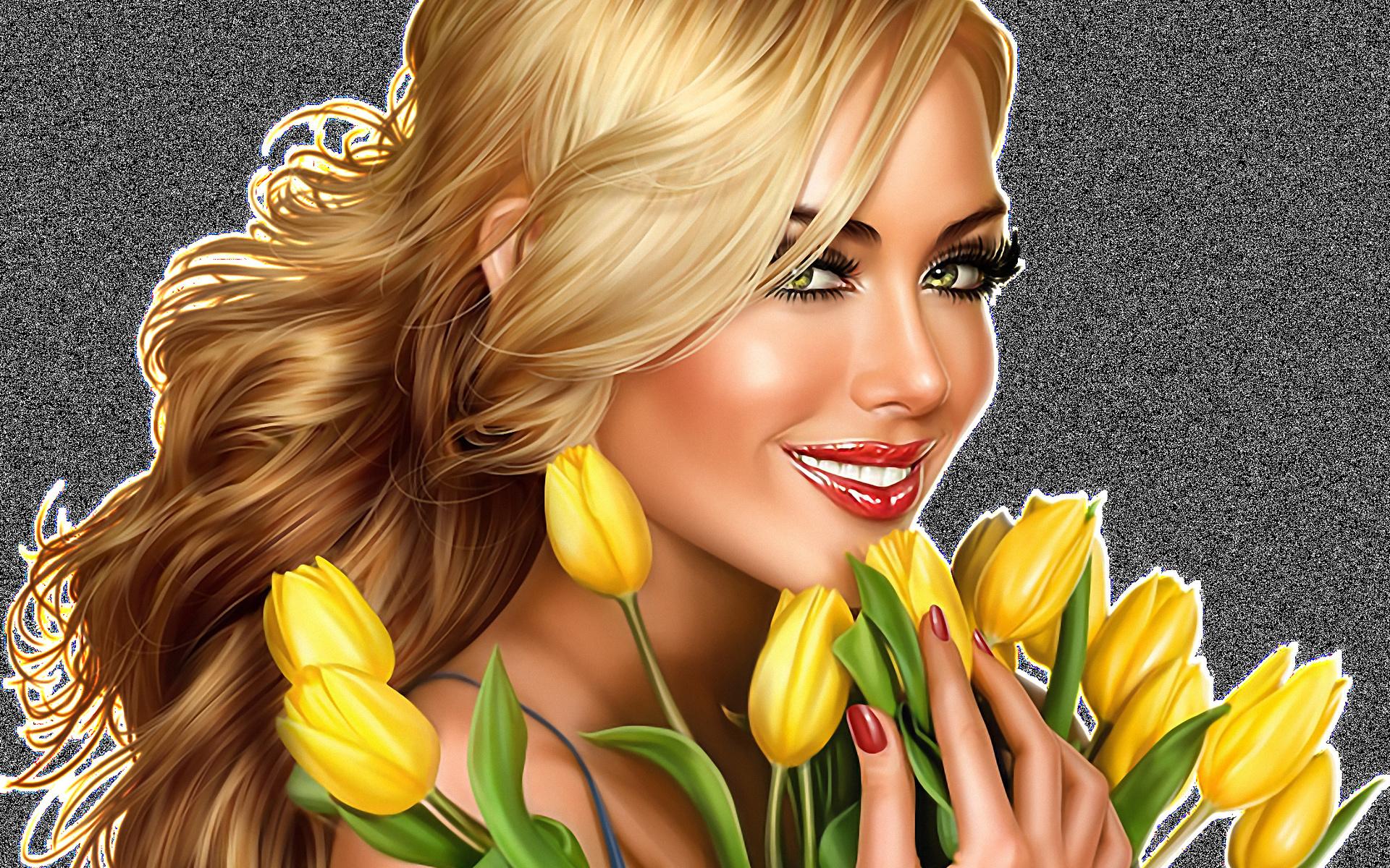 Открытки женщин блондинок