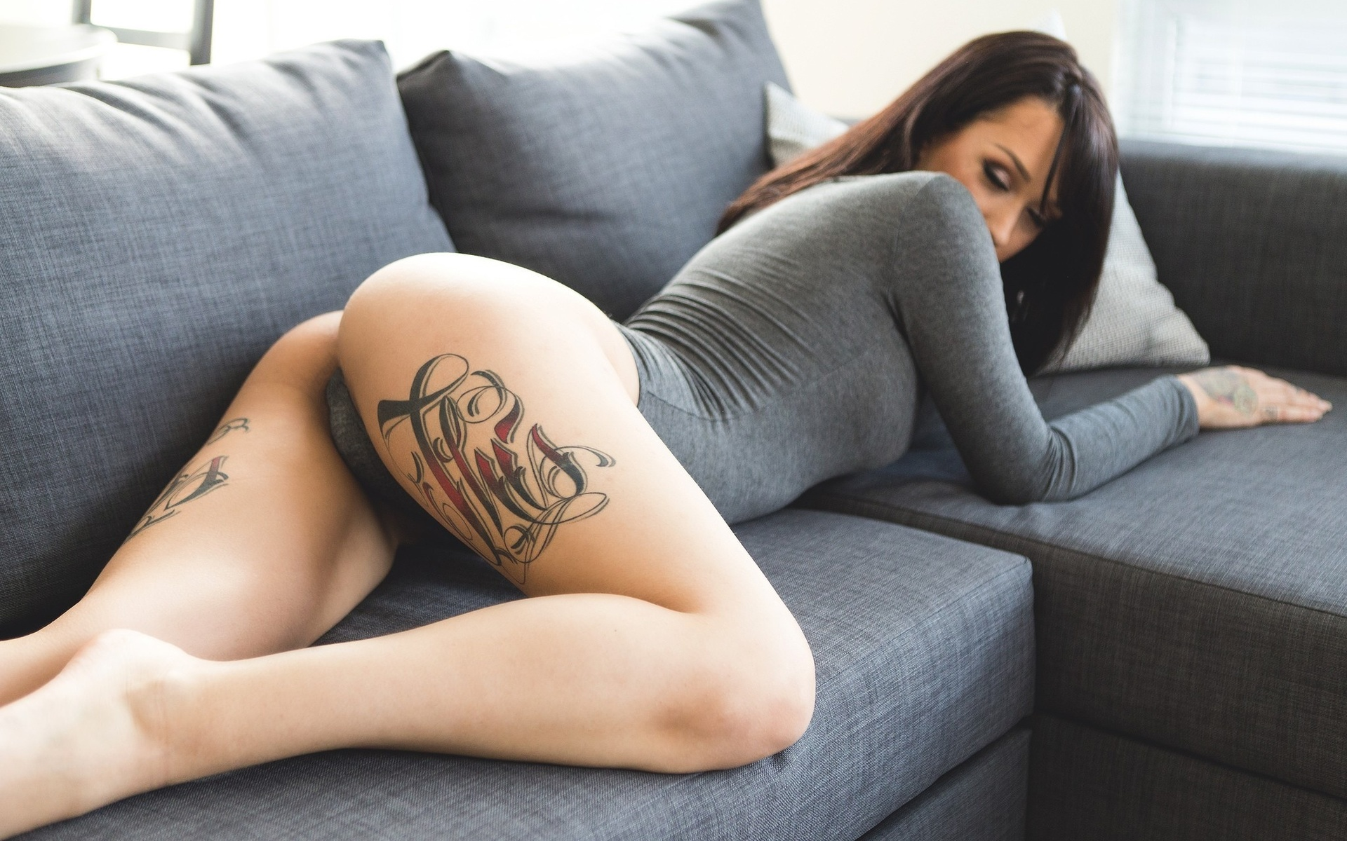 Hypno girls with sexy pussy and ass tattoos