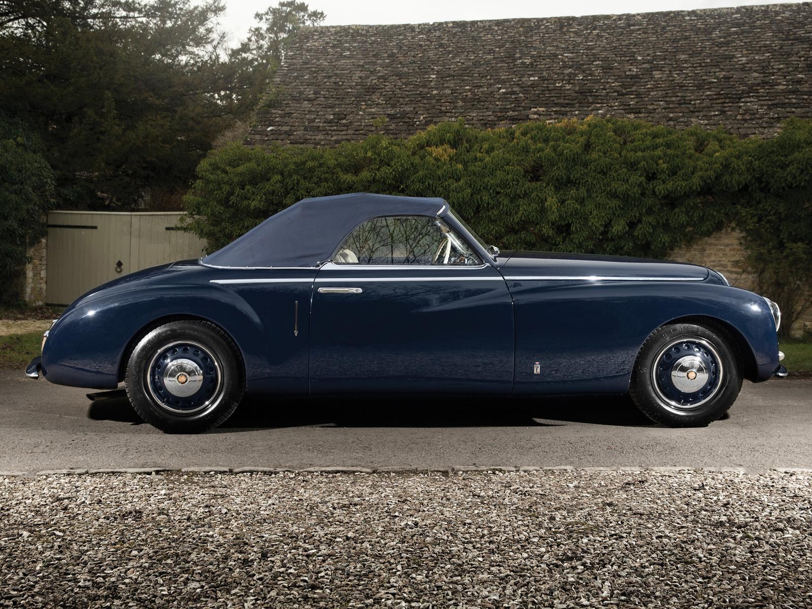 ретро, синий, металлик, сбоку, 1947, bristol, 400, cabriolet, pininfarina