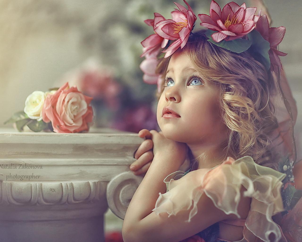 Открытка, открытка красивая девочка