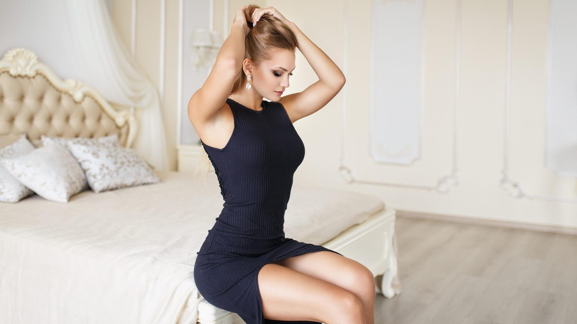 фото высокого разрешения девушек в платьях студия бабенка