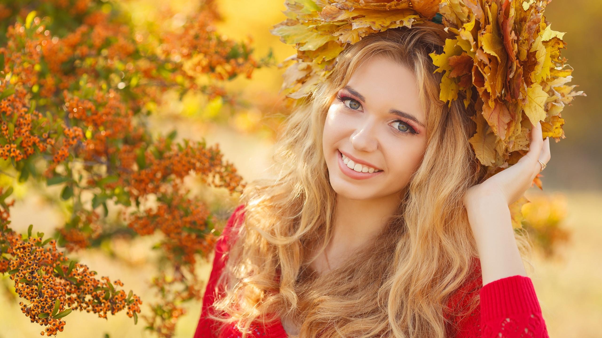Картинки прикольная девушка осень, днем