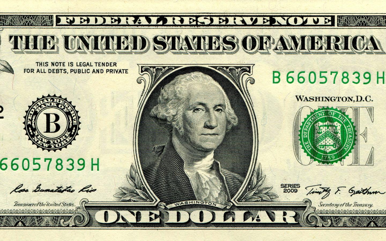 деньги, купюра, доллар, 1, washington, federal reserve note