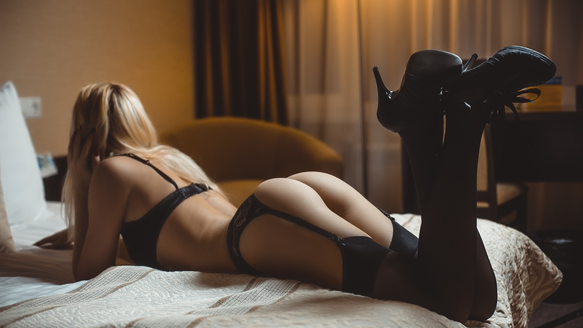 Black stockings escort