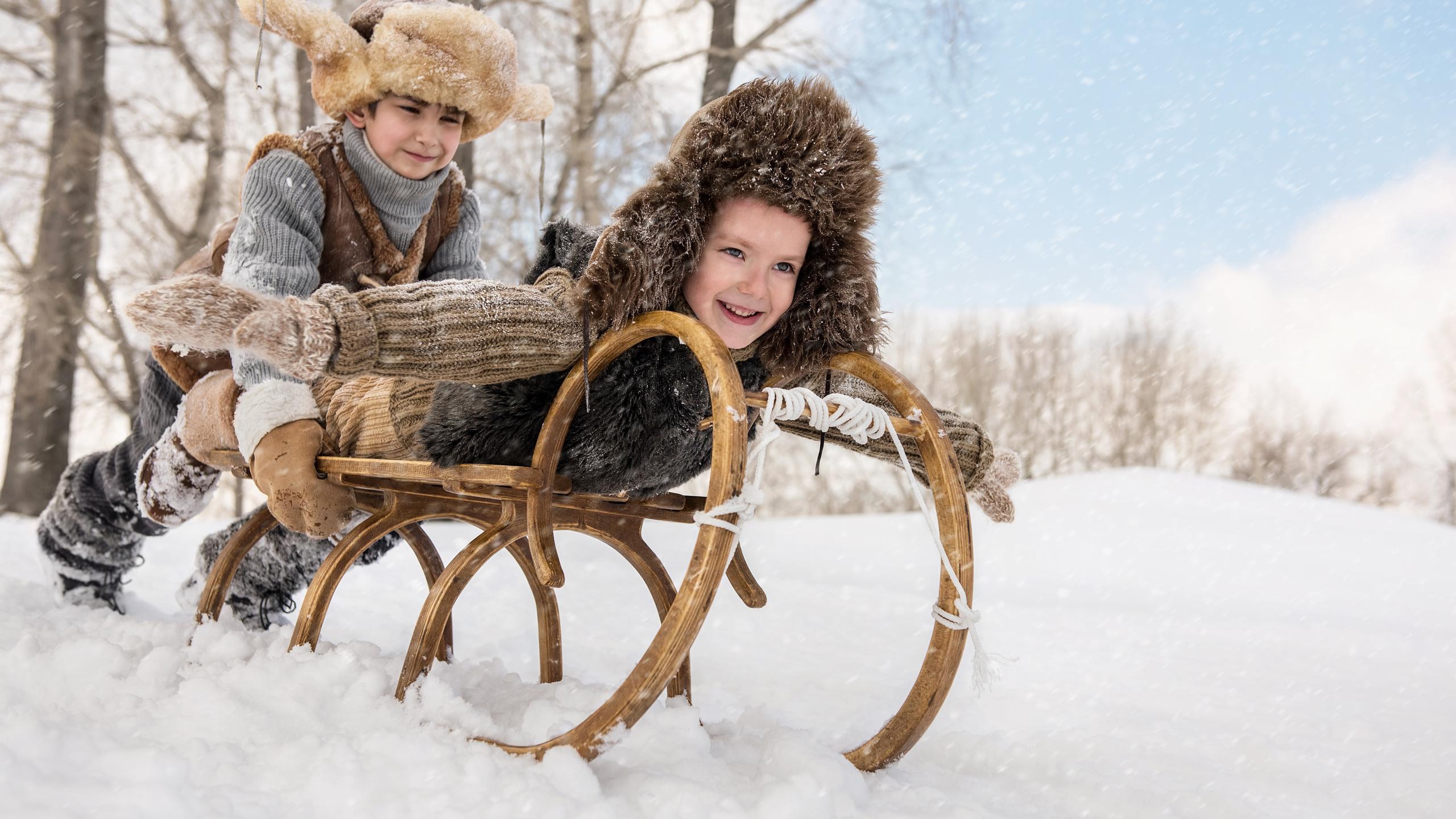 Про, зима дети картинки на рабочий стол