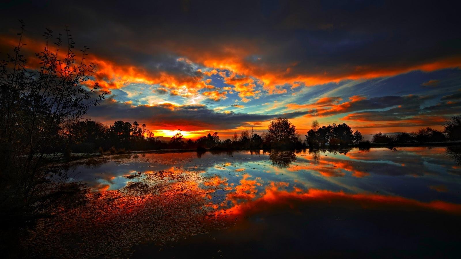Картинки для, вечерний закат картинки