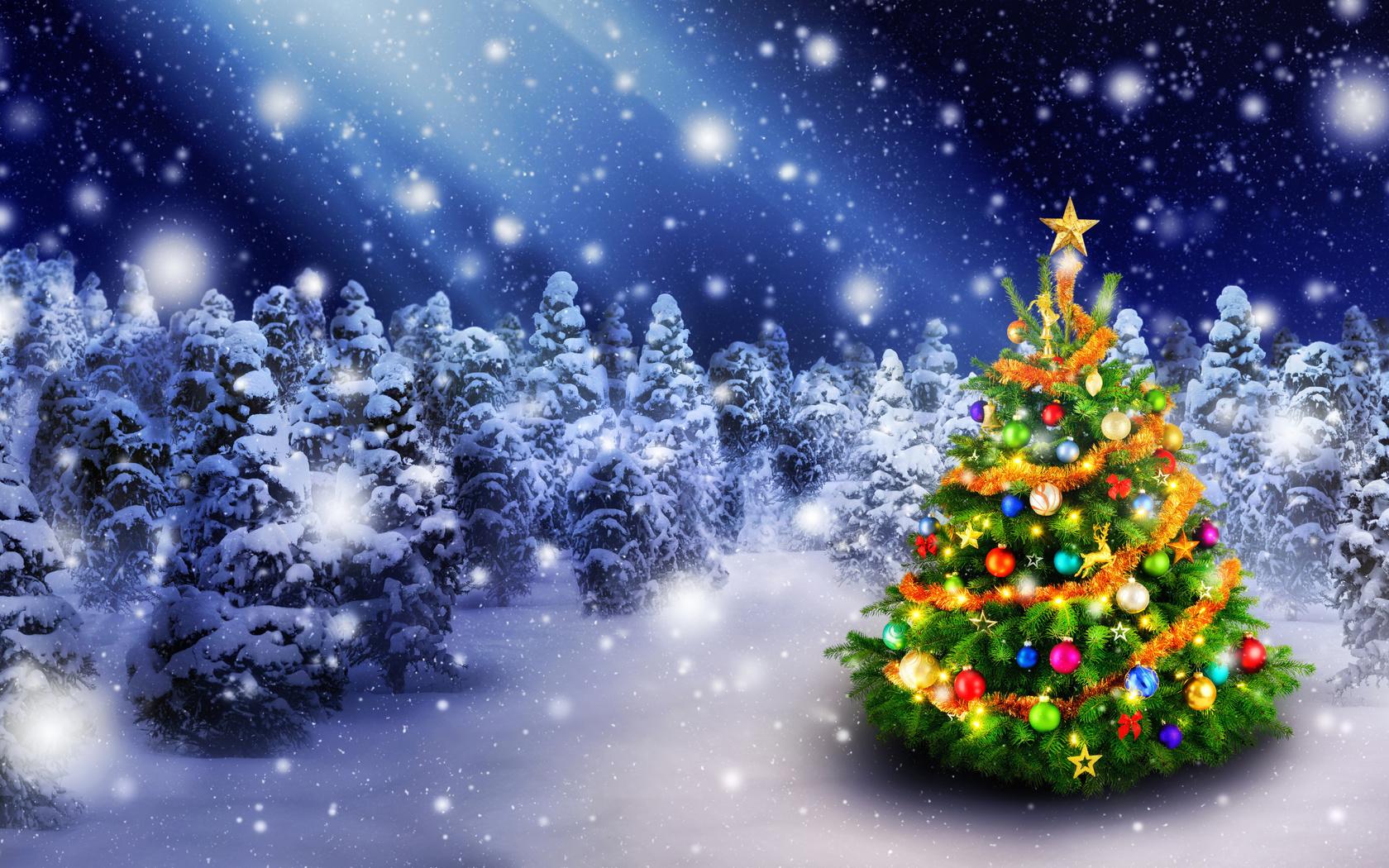 Красивые открытки елки