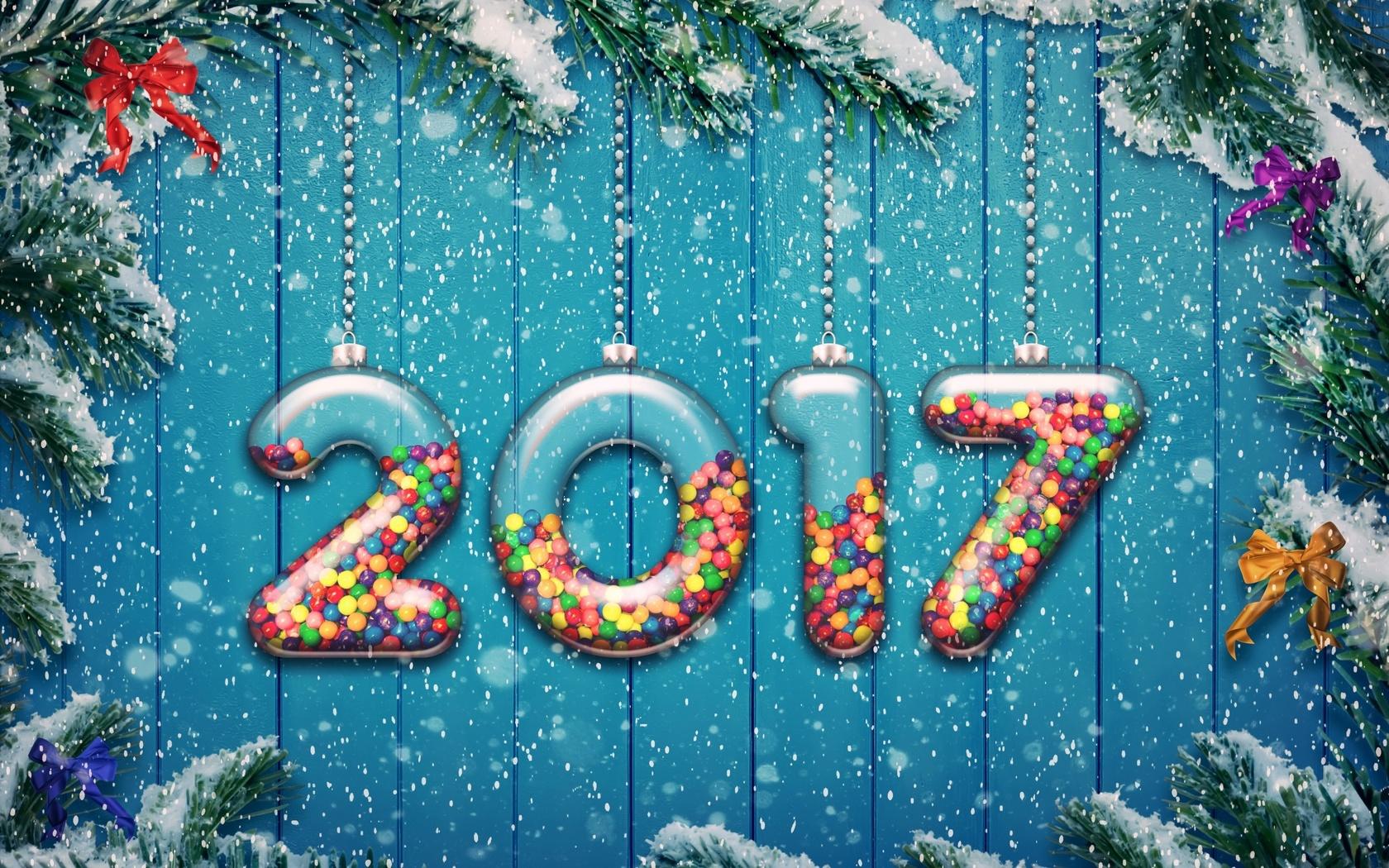 Картинки с надписью с новым годом 2017