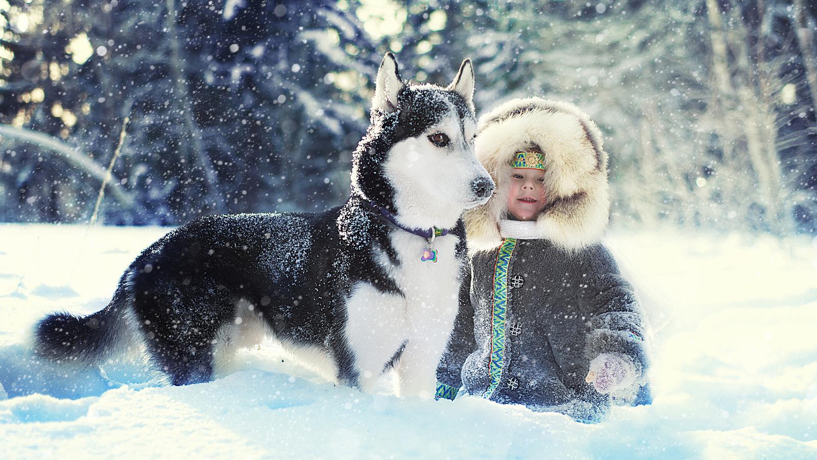 Зима дети картинки на рабочий стол