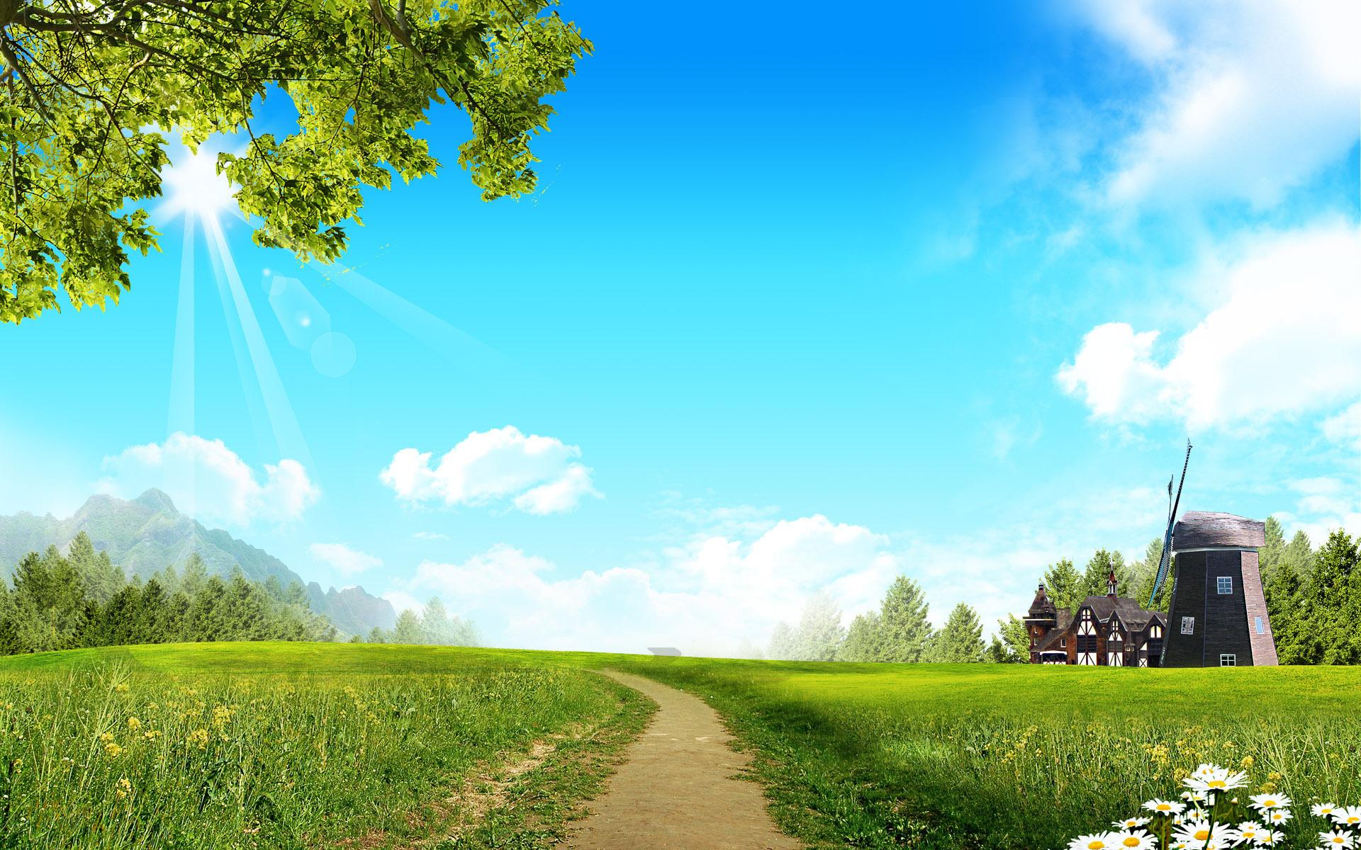 Фоновые картинки деревня