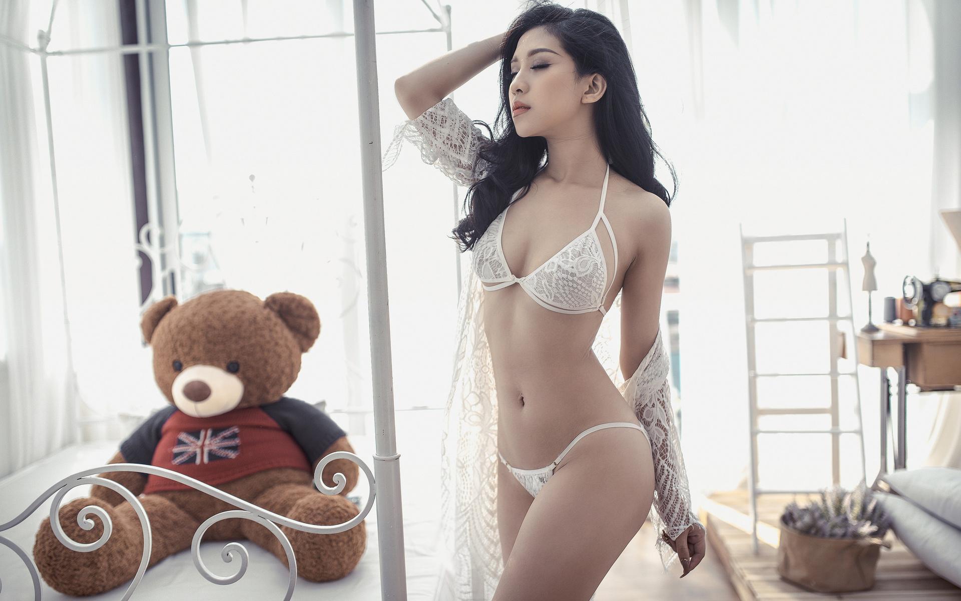 Sexy dance asian underwear, dick and sandy rheem