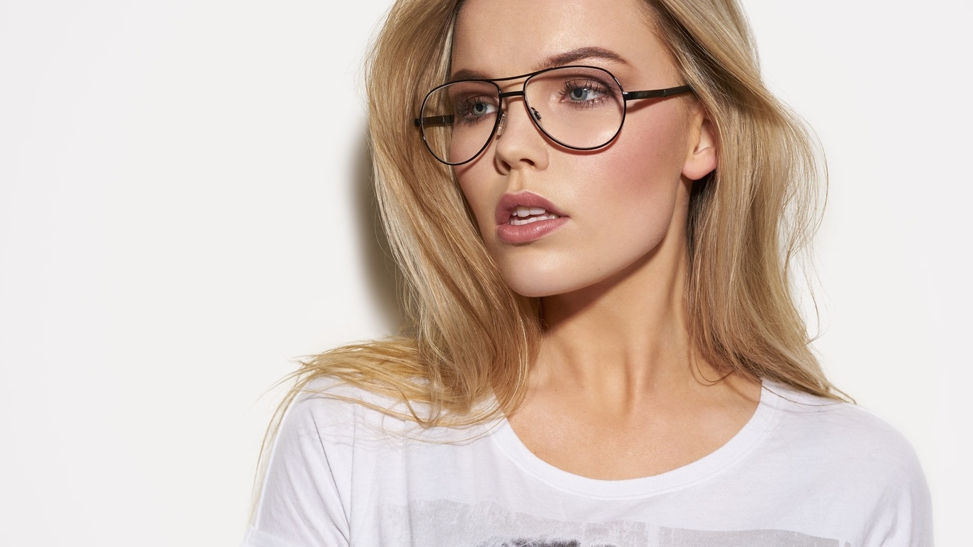 glasses nude in Blondes