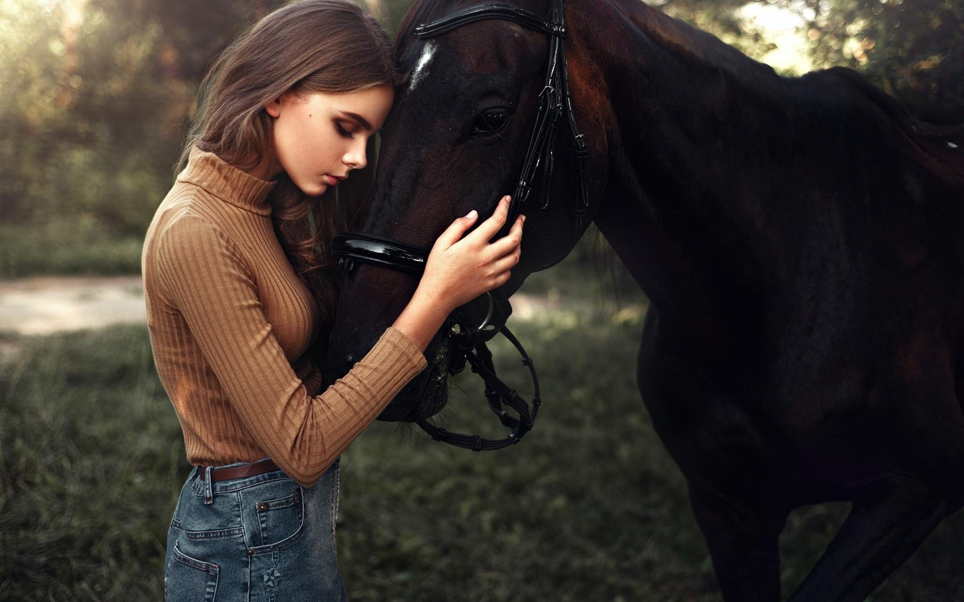 Картинки девушка и лошадь, печатью российской