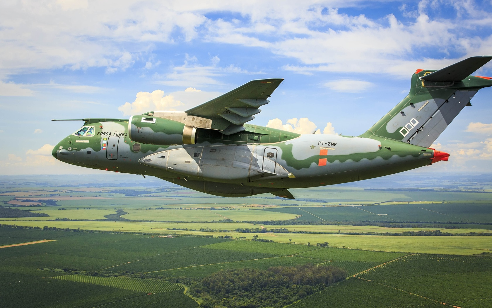 самолет, полет, kc-390