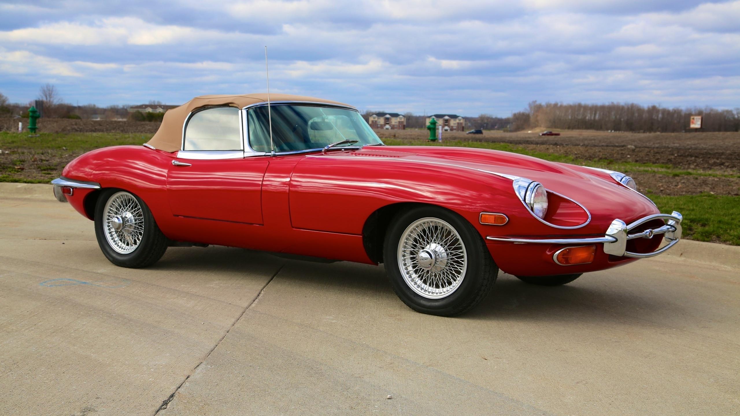 jaguar e type, car, jaguar