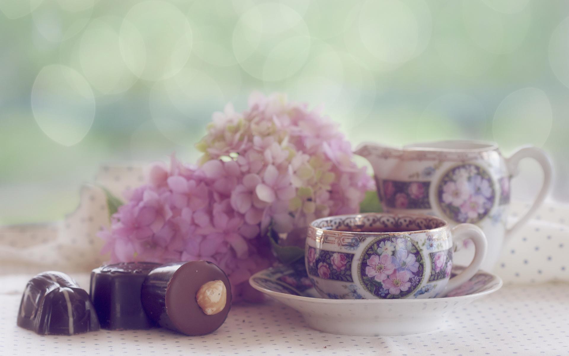 Картинки с добрым утром цветы кофе конфеты, для инны