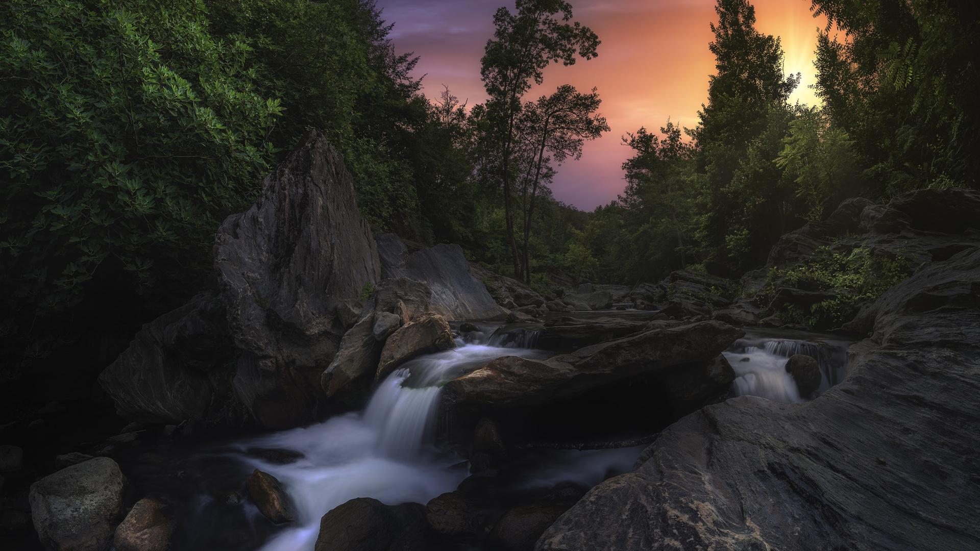 corsica, корсика, природа, пейзаж, камни, река, деревья, течение
