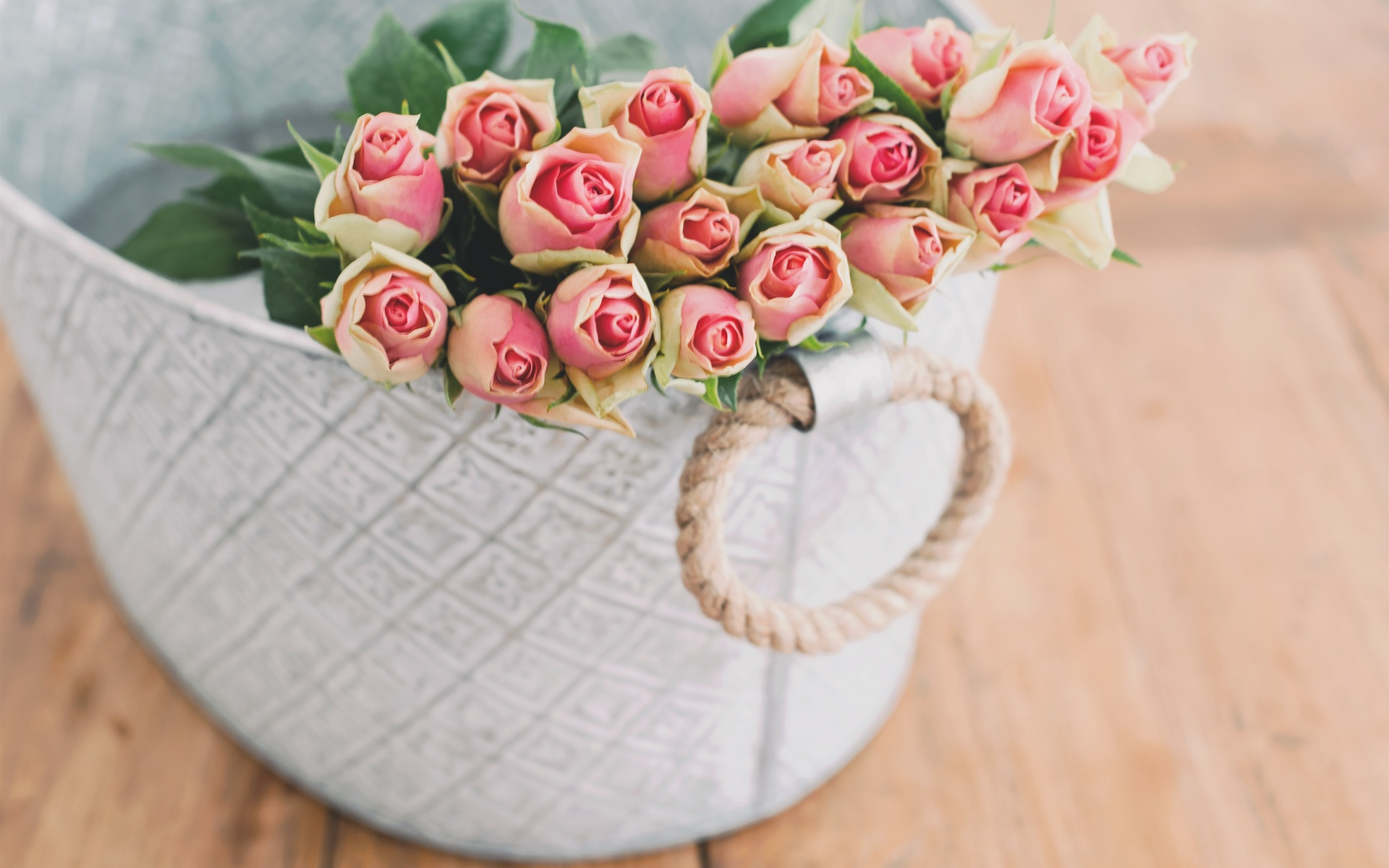 доски, коробка, цветы, розы