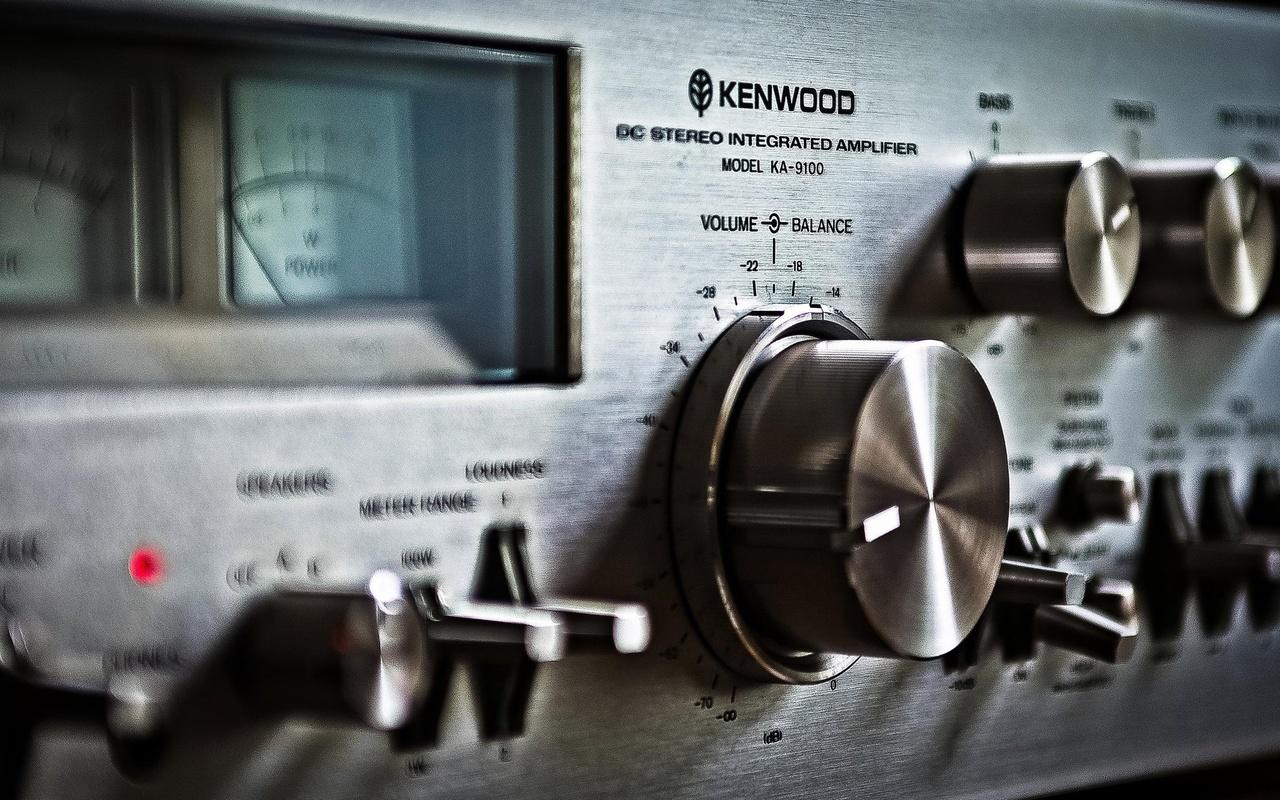 kenwood ka-9100, background, макро, музыка